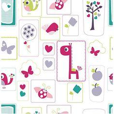 Lemon Ribbon Lemon Ribbon Animal Sanctuary Wallpaper- at Debenhams Mobile