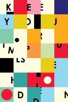 Color blocks.