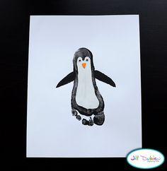 Footprint penguin - fun craft!
