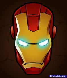 how to draw iron man easy Helmet Drawing, Mask Drawing, Drawing Tips, Iron Man Drawing Easy, How To Draw Avengers, New Avengers Movie, Male Face Drawing, Iron Man Party, Iron Man Face