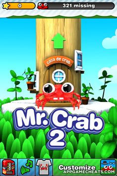 Mr. Crab 2 Cheats & Hack for All Levels & Characters Unlock  #Adventure #MrCrab2 #Strategy http://appgamecheats.com/mr-crab-2-cheats-hack/