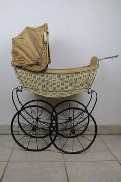 Brennabor-Puppenwagen-Antik-Puppen-Kinderwagen-Vintage-Top