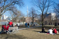 Summer weather in March, Trinity Bellwoods Park, Toronto, ON
