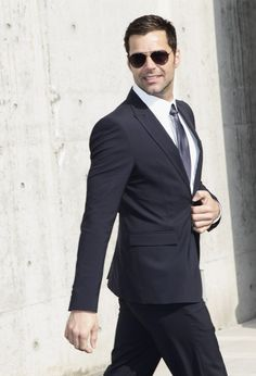 Singer Ricky Martin attends the Emporio Armani show as part of Milan Fashion Week Womenswear Autumn/Winter 2011 on February 26, 2011 in Milan, Italy.