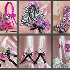 15 Pc Zebra Themed Wedding Accessories Ensemble