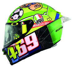 Valentino Rossi dedicates his AGV helmet to a Grand Sporting Champ! - http://superbike-news.co.uk/wordpress/valentino-rossi-dedicates-agv-helmet-grand-sporting-champ/
