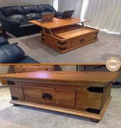hack your coffee table so it lifts up!