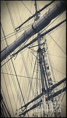 Mast and Rigging Postcard, by Tim Richards.  Simulated vintage photo circa 1900, Hobart, Tasmania, Australia.