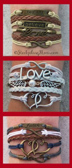 Choose your favorite 3 bracelets for FREE - just pay shipping! Over 60 designs and adding more weekly. Free bracelet deal ends 123114. CouponCode SPMOMS at checkout.