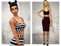 My Sims 4 Blog: Sentate's Aimee & Charlotte Co-ord set
