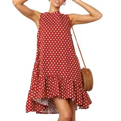 Polka Dot Tank Shirt Women Dresses Party ALine Casual Dresses Summer Short Ruffles O Neck Dress Vestidos Women's A Line Dresses, Elegant Dresses, Casual Dresses, Fashion Dresses, Summer Dresses, Maxi Dresses, Modest Dresses, Long Dresses, Cheap Dresses