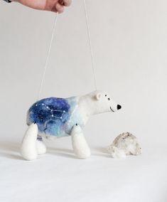 Mama Bear  Felt Polar Bear.  Ursa Major by TwoSadDonkeys on Etsy