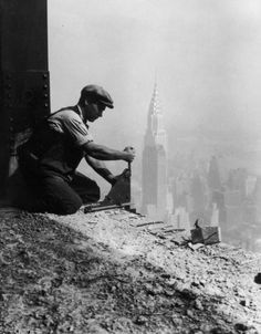 1930: The Empire State Building (photo by Lewis Hine)