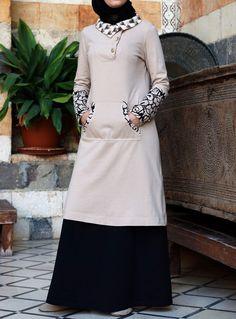 Hijab Fashion 2016/2017: SHUKR USA | Islimi Printed Sweatshirt