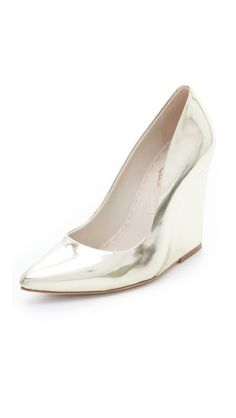 alice + olivia Odell Mirrored Wedge Pumps    I have rounded toe ones like this, but I love the point toe on these!!!