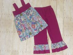 Ruffles Galore Boutique Girls Pants--Custom Made--Sizes 3 months-10 years