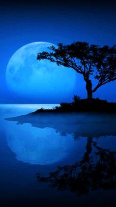 Moon In Water.