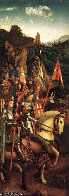 'Retablo de Gante Los Soldados de Cristo' de Jan Van Eyck (1395-1441, Netherlands)