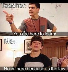 The girl before me said: 'Hayes and jake!' And I was like GURL!!!!!! Lol but… honestly.... I was always in school