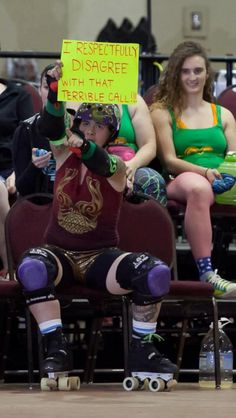 Trish the Dish // Roller Derby  --  As long as it's respectful.