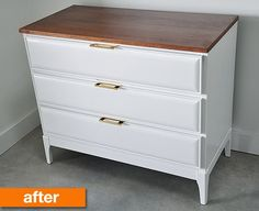 Before & After: A Vintage Dresser Refresh