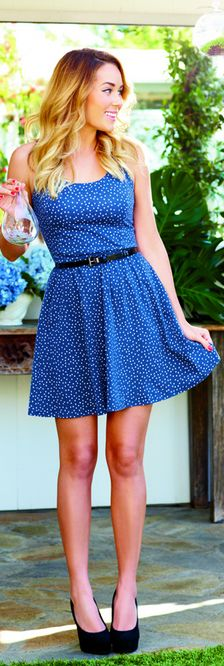 Lauren Conrad: Dress, belt and shoes – Lauren Conrad Kohl's  (why do I love LC so much?!?!! Well, this cute dress doesn't hurt ;)