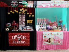 Wants and Wishes: Party planning: Wreck it Ralph Birthday Party- dual arcade game dessert bar