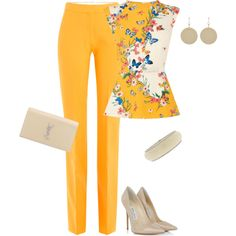 A fashion look from April 2016 featuring Oasis tops, Victoria, Victoria Beckham pants y Jimmy Choo pumps. Browse and shop related looks.