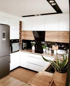 home decor kitchen Inspi_Deco on Instag - Kitchen Room Design, Outdoor Kitchen Design, Modern Kitchen Design, Home Decor Kitchen, Kitchen Interior, Home Kitchens, Kitchen Kit, Kitchen Bars, Kitchen Tables