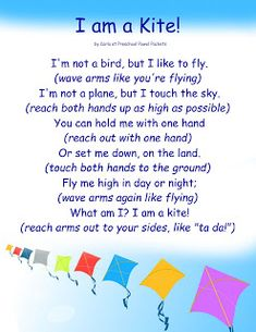 I am a Kite Action Rhyme for Preschool