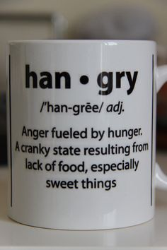 ARE YOU HANGRY  great mug for foodie friends by MeHangry on Etsy, £9.99