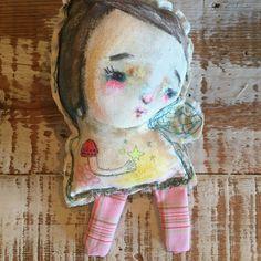 Star Fairy primitive art doll original stuffed by mindylacefield