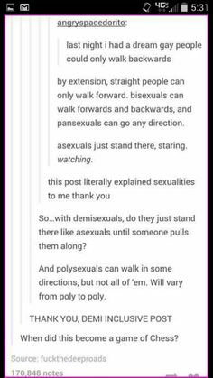 Sexualities in a nut shell