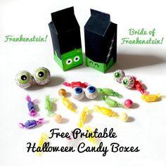 Cajitas de Dulce en forma de Frankenstein - Manualidades para Hallowen ~ Un Mundo de Manualidades