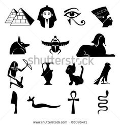 Find Egypt Symbols Setsilhouettes stock images in HD and millions of other royalty-free stock photos, illustrations and vectors in the Shutterstock collection. Ancient Egypt For Kids, Egyptian Drawings, Egyptian Party, Egypt Jewelry, Arte Tribal, Egyptian Symbols, Easy Drawings, Body Art Tattoos, Sketches