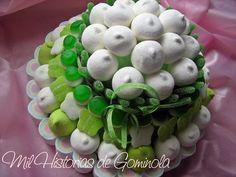 Tarta chuches / gominolas / boda / comunion / cumpleaños / verde