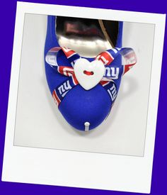 """Front of New York Giants heel """"Empire State of Mind"""""""