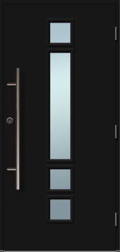 Matea ytterdør med langt håndtak, sort. Black Doors, Mirror, Furniture, Design, Home Decor, Living Room, Decoration Home, Black Front Doors, Room Decor