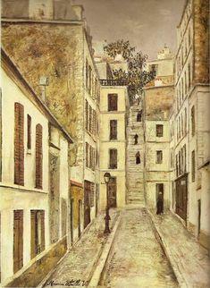 Maurice Utrillo Impasse Cottin 1910 env