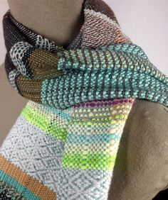 Brooklyn // Handwoven Aquamarine, Chestnut & Neon Lime Scarf // Woven Men's Fashion // Spring Accessories // Colorful Table Runner by pidgepidge on Etsy Fashion Spring, Men's Fashion, Cozy Scarf, Bold Colors, Unique Art, Envy, Brooklyn, Hand Weaving, Lime