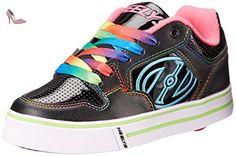 Heelys Motion Plus, Chaussures de Tennis Enfants Unisexe, Noir (Black / Hot Pink / Rainbow), 35 EU - Chaussures heelys (*Partner-Link)