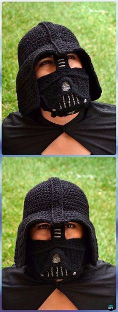 Crochet Darth Vader Hat by Juli Roldan Voncannon Paid Pattern - Crochet Halloween Hat Free Patterns