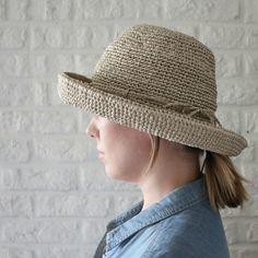Crochet hat raffia Summer hats women Wide by HatsAndOtherStories 19e4422b782c