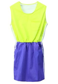 Women Euro Style Fashion Sport Casual Scoop Pattern Cotton Short Sleeve Skirt One Size@WY2212
