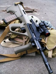 Steyr Aug M3 A1-A - Legitimately one of my favorite guns to shoot ever.