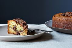 Chocolate Chip Sour Cream Coffee Cake with Apples