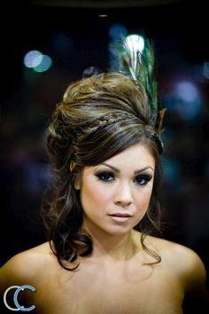 feather hair masquerade
