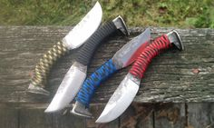 Groomsmen Gifts 6 Railroad Spike Knives Paracord  by HammerDown, $360.00