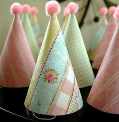 From Marriage to Motherhood: Transforming Dollar Store Party Hats {Tutorial} Dollar Store Crafts, Dollar Stores, Festa Party, Elmo Party, Mickey Party, Dinosaur Party, Party Party, Diy Party Hats, Lorie