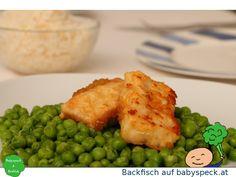 Backfisch für Baby led weaning - BLW-Rezept für zarten Fisch in handlichen Stücken von www.babyspeck.at